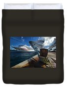 Norwegian Sky Carnival Sensation And Royal Caribbean Majesty Duvet Cover