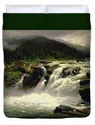Norwegian Waterfall Duvet Cover by Karl Paul Themistocles van Eckenbrecher