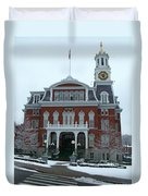 Norwich City Hall In Winter Duvet Cover