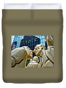Nose To Nose In Montreal Duvet Cover