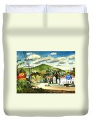 Nostalgia Arcadia Valley 1985  Duvet Cover