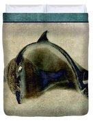 Not A Dolphin Duvet Cover