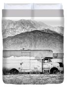 Not In Service Bw Palm Springs Duvet Cover