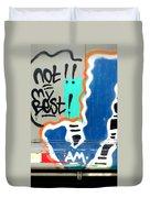 Not My Best Graffiti 1 Duvet Cover