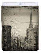 Not So Old San Francisco Duvet Cover
