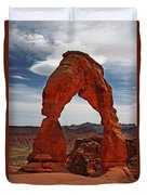Not The Usual Delicate Arch View Duvet Cover