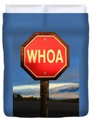 Not Your Ordinary Stop Sign Duvet Cover