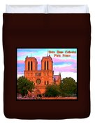 Notre Dame Cathedral Poster Duvet Cover