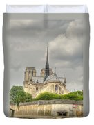 Notre Dame From The Seine Duvet Cover