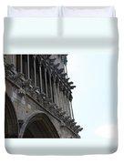 Notre Dame Gargoyle Row - Dijon Duvet Cover