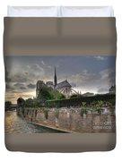 Notre Dame On The Seine Duvet Cover