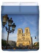 Notre Dame Tourists Duvet Cover