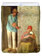 Nourishment, 1858 Duvet Cover