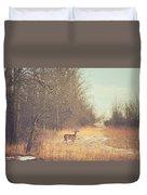 November Deer Duvet Cover