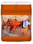 Novice Buddhist Monks Duvet Cover