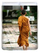 Novice Monk Of Chedi Luang Duvet Cover