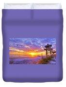 Nsb Lifeguard Station Sunrise Duvet Cover