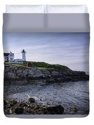Nubble Dawn Duvet Cover by Joan Carroll