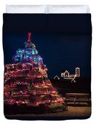 Nubble Lighthouse And Lobster Pot Tree Duvet Cover