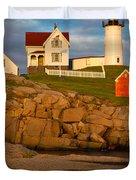 Nubble Lighthouse No 1 Duvet Cover