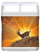 Nubian Ibex  Duvet Cover