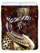 Nubian Prince Duvet Cover by Jane Whiting Chrzanoska