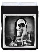 Nude And Mirror, C1850 Duvet Cover
