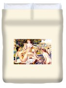 Nude Bathers Duvet Cover