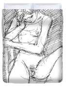Nude Female Sketches 4 Duvet Cover