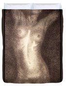 Nude Female Torso Drawings 5 Duvet Cover