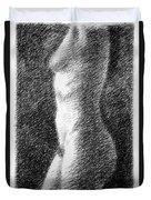 Nude Female Torso Drawings 6 Duvet Cover