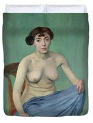 Nude In Blue Fabric, 1912 Duvet Cover