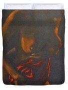Nude In Darkness Duvet Cover