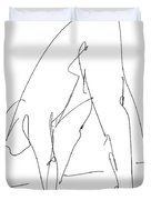 Nude Male Drawings 32 Duvet Cover