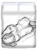 Nude Male Sketches 4 Duvet Cover