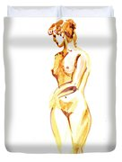 Nude Model Gesture II Duvet Cover