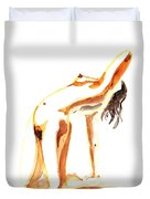 Nude Model Gesture IIi Duvet Cover