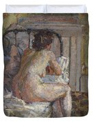 Nude On A Bed, C.1914 Duvet Cover