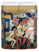 Nudes In Studio Duvet Cover