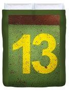 Number 13 Duvet Cover