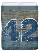 Number 42 Duvet Cover by Michelle Calkins