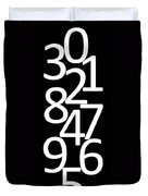 Numbers In Black And White Duvet Cover