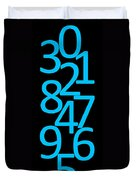Numbers In Blue And Black Duvet Cover