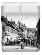 Nuremberg Street Scene Duvet Cover