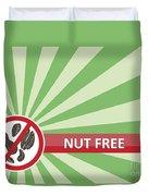 Nut Free Banner Duvet Cover
