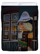 Nutcracker Statue In Downtown Grants Pass Duvet Cover