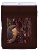 Nuthatch Up Close Duvet Cover