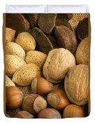Nuts On Burlap Duvet Cover