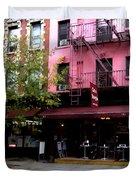 Ny Streets - Cafe Borgia II Soho Duvet Cover