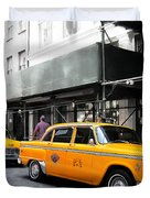 Ny Streets - Yellow Cabs 1 Duvet Cover